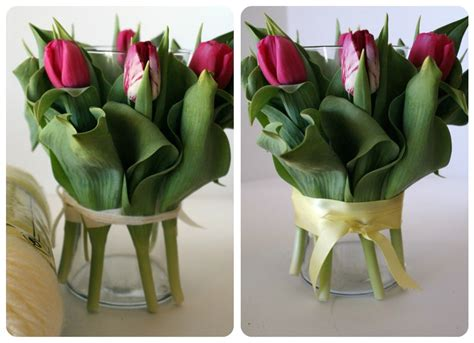 Vase Tulips by Centerpiece With Tulips
