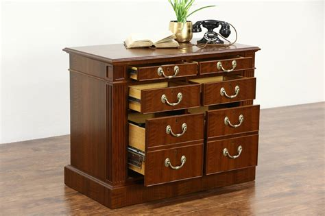 6 drawer lateral file cabinet custom walnut 6 drawer lateral executive vintage office