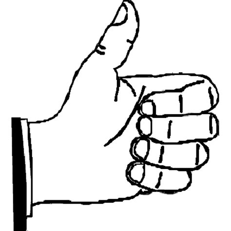 coloring page thumbs up full page image with words