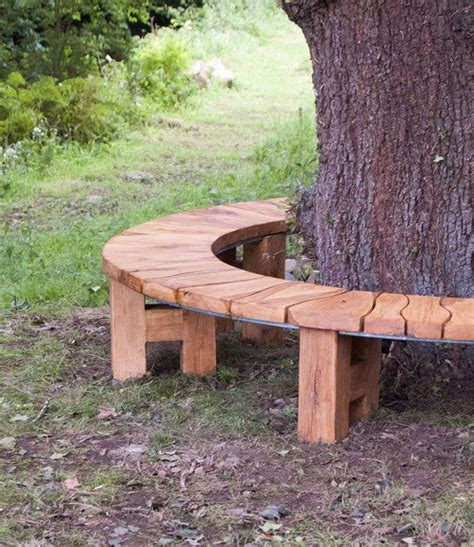 bench around a tree plans curved bench oak tree seat garden furniture garden