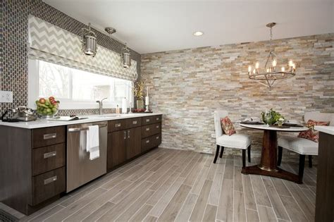 Stone Kitchen Tiles Wall by Contemporary Cabinetry Faux Wood Floor Tile Stacked