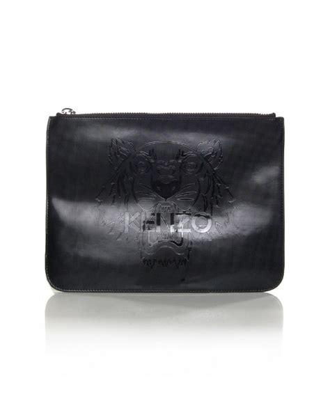 Kenzo Signature Clutch kenzo metallic tiger flat clutch in black lyst