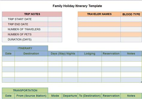 itinerary templates 30 itinerary templates travel vacation trip flight