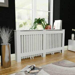 vidaxl radiator cover heating cabinet white mdf cupboard