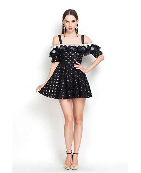 shoulder fringe sequins  black dresses gemgrace