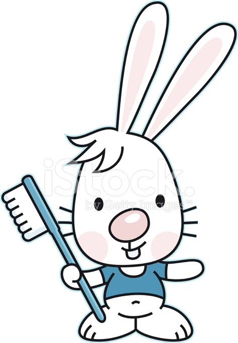 N Toothbrush Rabbit bunny with toothbrush and healthy teeth stock vector freeimages