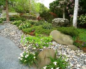 River Rock Garden River Rock Flower Bed Designs Home Design Elements