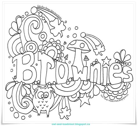 54 Best Images About Colouring Girlguiding History Books Scout Brownie Coloring Pages