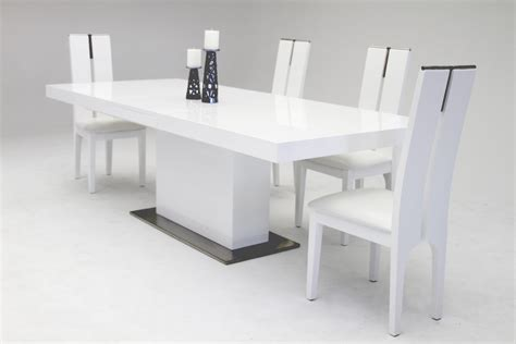 Modern Dining Tables Zenith Modern White Extendable Dining Table Modern Dining Dining Room