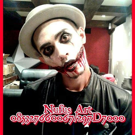 Centipede Kelabang Palsu Makeup Karakter horror make up horror paint uv glow in the make up karakter jakarta
