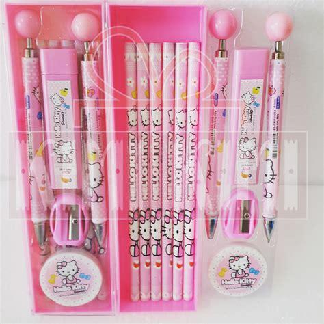 Stationery Set Perlengkapan Alat Tulis Set Pensil Mekanik Mickey jual study set alat tulis perlengkapan sekolah anak