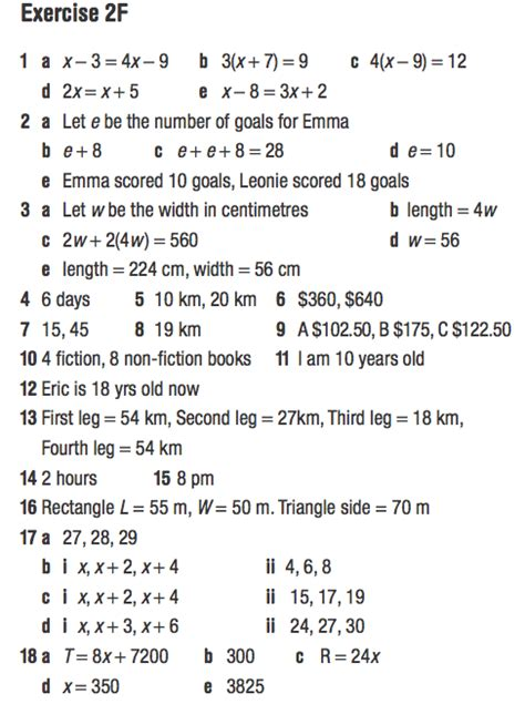 Free Year 9 Maths Revision by Year 9 Answers For Worded Algebra Pg 97 98 Mr Patel S Maths