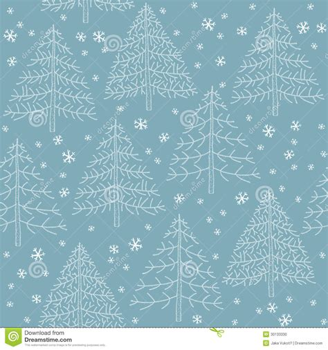 christmas pattern blue seamless winter forest pattern stock photo image 30133330