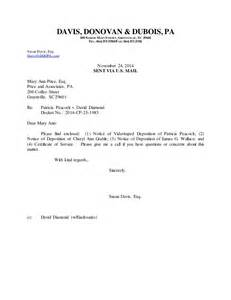 letter to oc enc notice of deposition