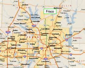 frisco on map frisco map