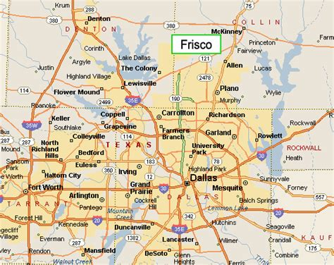 frisco texas on map frisco texas map