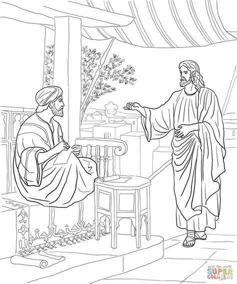 coloring pages jesus calling his disciples jesus calls matthew coloring page free printable