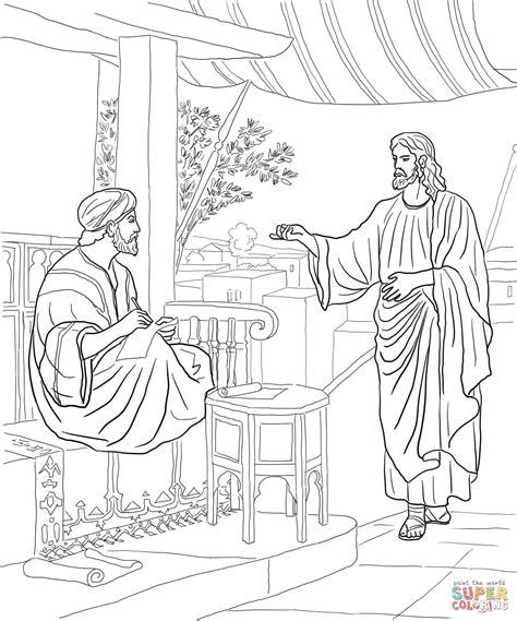 Coloring Page Jesus Calls Matthew | jesus calls matthew coloring page free printable