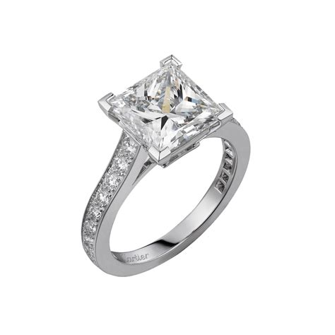 Cartier Engagement Rings by 1895 Solitaire Princess Cut Engagement Ring