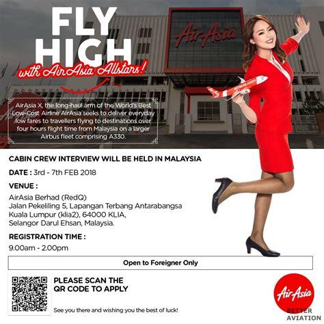 airasia recruitment airasia x cabin crew recruitment foreign nationalities