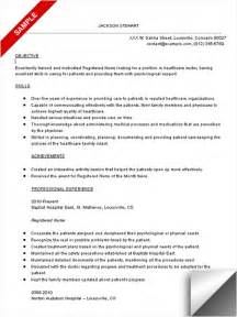 Nursing Resume Exles With Objective Career Enter