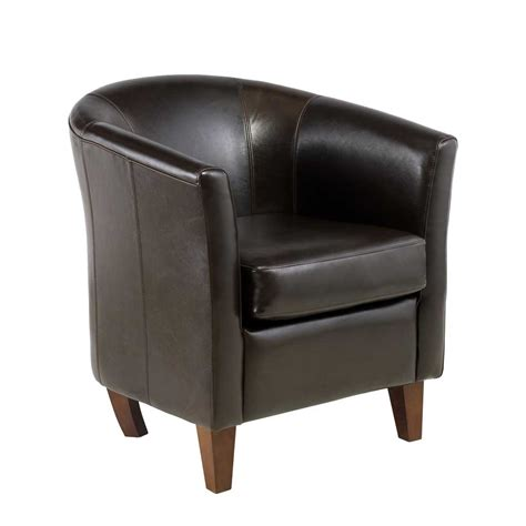 leather tub chair for home office