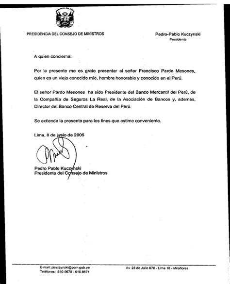 carta de trabajo a quien concierne post panamapapers documentos que involucran al ex director bcr salpican a ppk