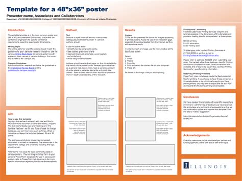 templates for research posters research poster template from university of illinois