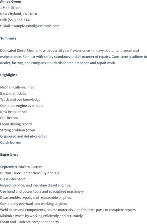 Mechanic Resume Template by Mechanic Resume Templates Free Premium