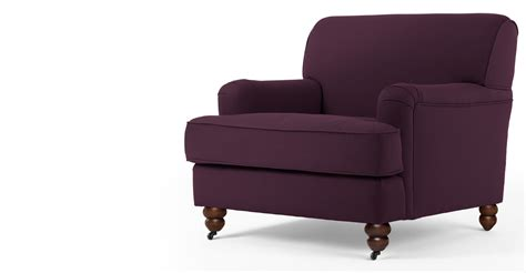 armchair purple orson armchair pansy purple made com