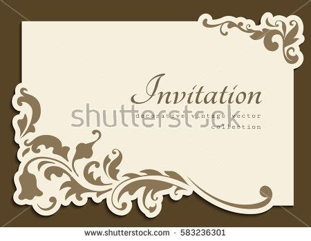 wedding card box out of picture frames vintage gold rectangle frame floral corner stock vector