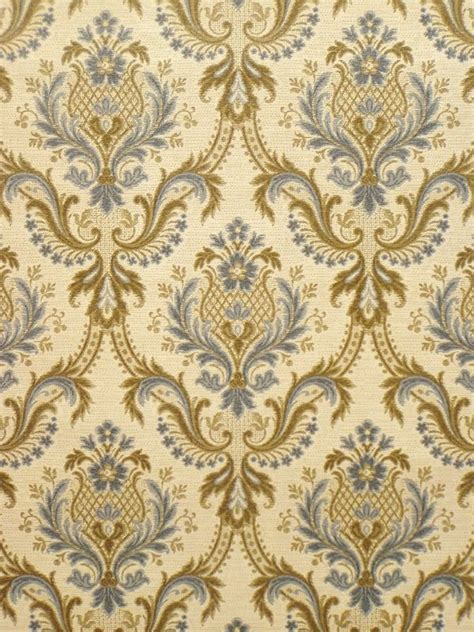 Vintage retro baroque wallpaper from the '60s - Vintage ... Kids Room Wallpaper Pattern