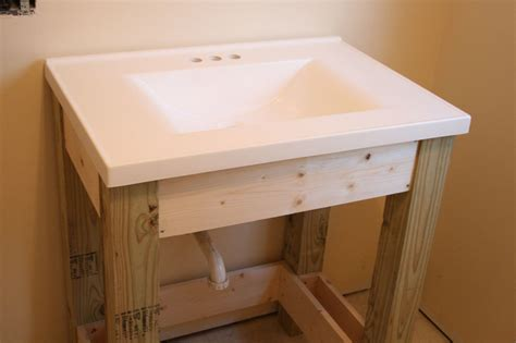 farmhouse style vanity base  slatted shelf ana white