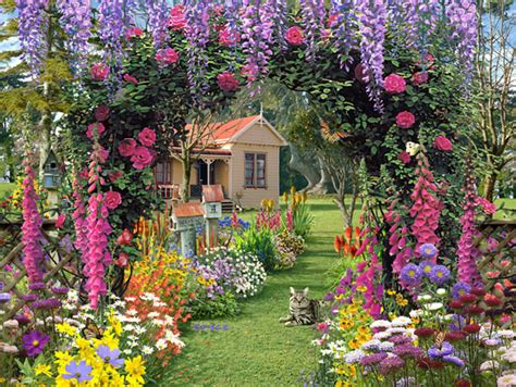 Cottage Garden Decor Small Garden Decoration Ideas Photograph Cottage Garden De