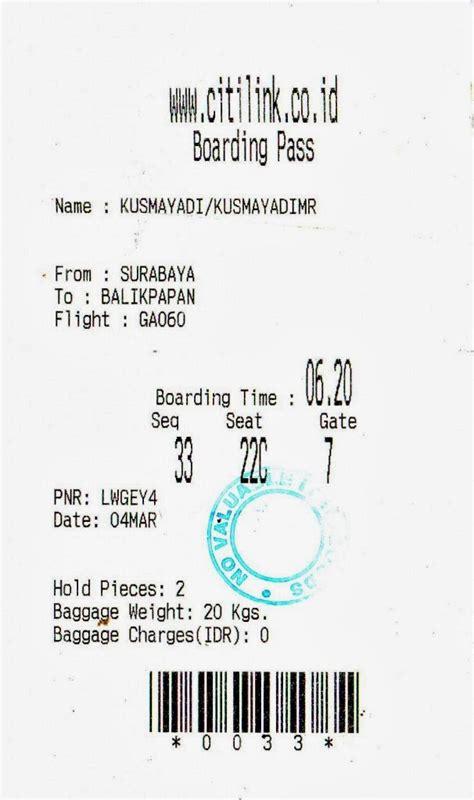 citilink boarding pass apakah boarding pass itu guntur tour travel