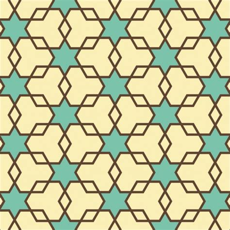 pattern vector star hexagons and star texture seamless geometric pattern