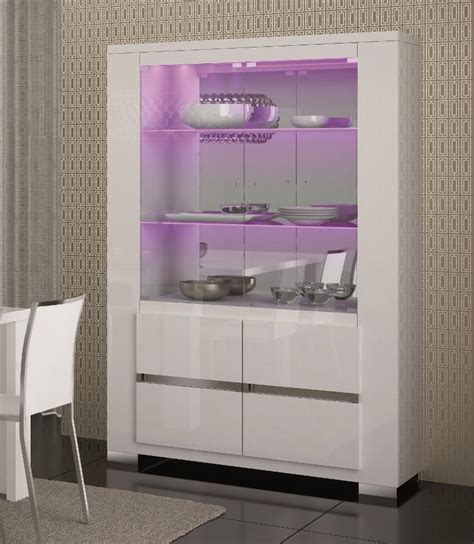 White Dining Room Display Cabinets Elegance Display Cabinet In White Or Black High Gloss With
