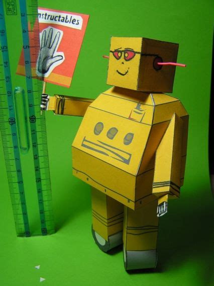 How To Make A Simple Robot With Paper - instructables paper robot by frankyfly