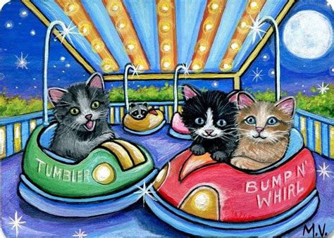 carnival painting cat 526 best artists i like on ebay aceo images on