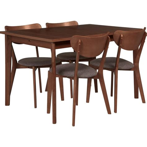 Homebase L Table by Hygena Merrick Walnut Table And 6 Charcoal Chairs