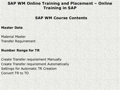 tutorial sap wm sap wm warehouse management online training and