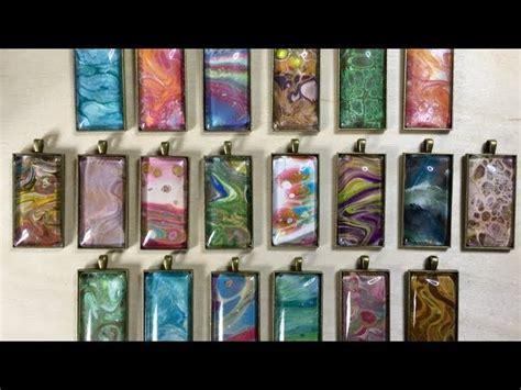 acrylic paint jewellery acrylic paint pour skin jewellery my crafts and diy projects