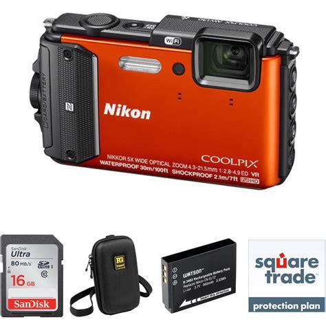 nikon waterproof nikon nikon coolpix aw130 waterproof digital deluxe kit