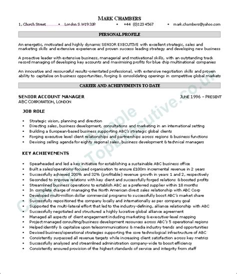 Resume Template Executive Summary Resume Executive Summary Exle Resume Badak