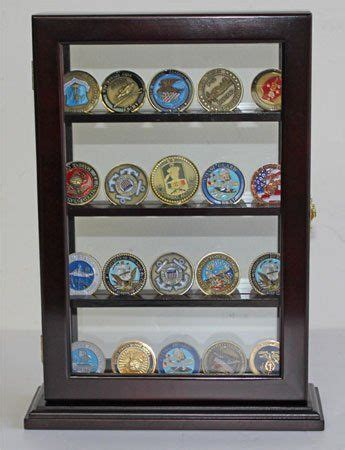 shadow box bar top military challenge coin display case counter top holder
