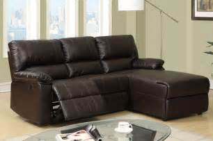 Small Reclining Sofas Small Coffee Leather Reclining Sectional Sofa Recliner Right Chaise