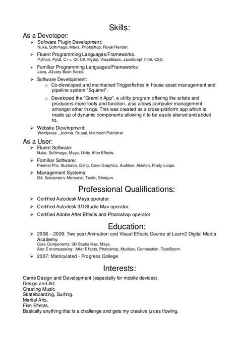 programming skills resume resume ideas