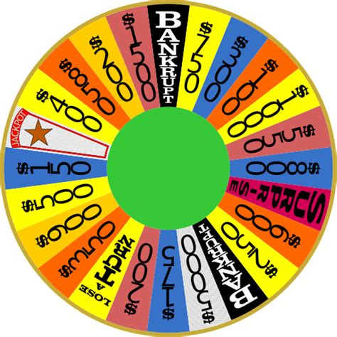 wheel of fortune template june 2013