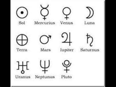 imagenes de simbolos con su significado los planetas sus simbolos y su significado parte 1 youtube