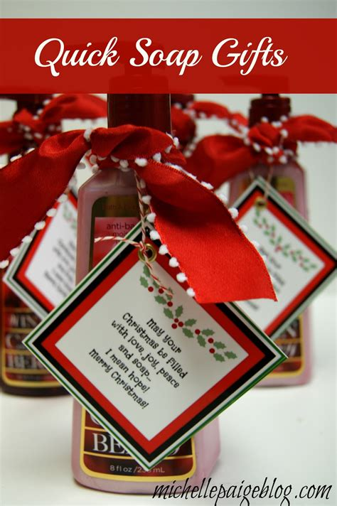 michelle paige blogs quick teacher soap gift  christmas